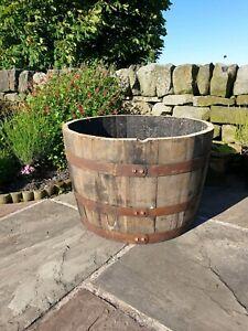 Large Whisky Barrel oak planter/tub