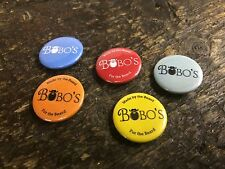 A Set Of 5 Bobos Beard Company Metal Badges