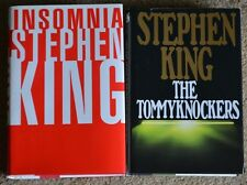 2 Stephen King books, VERY GOOD, Insomnia & The Tommyknockers