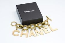 ICONIC CHANEL Gold Plated Letter Charm Bracelet 1993 Collection