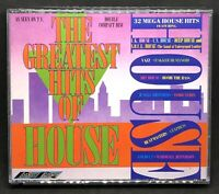 THE GREATEST HITS OF HOUSE - VARIOUS ARTISTS, (FAT BOX) DOUBLE CD ALBUM,(1988).