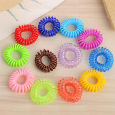 10X Elastic Telephone Wire Cord Head Ties Hair Band Rope Ponytail Jewelry Pip AU