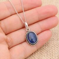 Kyanite Oval 925 Sterling Silver Pendant Necklace Jewellery