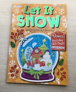 Let It Snow Jumbo Coloring & Activity New