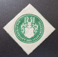 Siegelmarke Vignette DAS POLIZEIAMT DER STADT CHEMNITZ (8105-4)