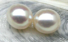 Genuine Match Pair 8.5*10mm AAA+++ white Loose Half Drilled Drop Akoya Pearls