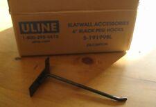 Slatwall 6 Black Peg Hooks 101 Pieces New U Line S 19199bl