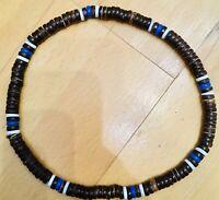 COOLE Surferkette / Halskette / Holzkette braun wooden bead necklace Armband