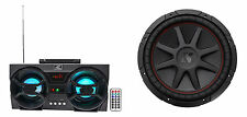 "Kicker 43CVR124 COMPVR 800 Watt 12"" 4-Ohm DVC Car Subwoofer Sub + Free Speaker !"