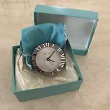 Tiffany & Co. Atlas Round Travel Alarm Clock W/ & Papers Mint Condition