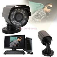1pc 1300TVL Waterproof Outdoor CCTV Security Camera IR Night Vision 6mm Lens FE