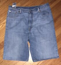 Levi's 569 Loose Fit Medium Wash Men's Denim Jean Shorts Size 36