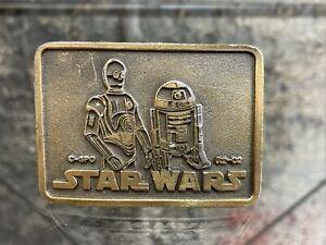 Vintage Star Wars Belt Buckle R2-D2 And C-3PO