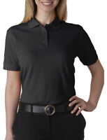 UltraClub Women's Classic Taped Neck 100% Cotton Pique Polo Shirt, 10-Pack. 8530