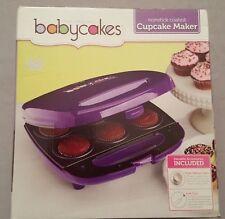 Babycakes Mini Cupcake Maker Purple 6 Cupcakes Nonstick CC-62
