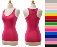 Women's Burnout Tank Top Stretch Sleeveless Racerback Cotton Knit Scoop Neck