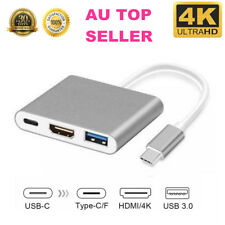 3 in 1 Type-C to HDMI Multiport Adapter Cable 4K USB 3.0 For Macbook Pro Samsung