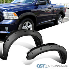 For 09-17 Dodge Ram 1500 Pickup Bolt-On Pocket Rivet Rough Texture Fender Flares