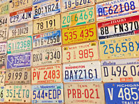 Starter pack of 10 License Plates From 10 Different States