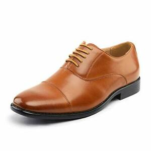 Bruno Marc Mens Leather Dress Shoes Formal Classic Lace-up Business Oxford Shoes