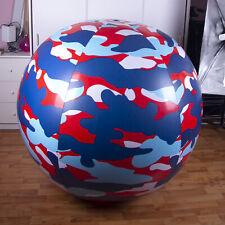 Riesen Aufblasbare wasserball 140cm+ infl. *Camoflage red/white/blue* beach ball