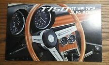"""1968 """"THE ALFA ROMEO 1750 GT VELOCE"""" SALES BROCHURE FOLD-OUT VERY NICE"""