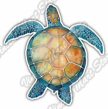 "Watercolor Sea Turtle Ocean Scuba Hawaii Car Bumper Vinyl Sticker Decal 4""X5"""