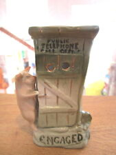 Antique Pink Pig w/Telephone Booth Souvenir Faring GERMANY
