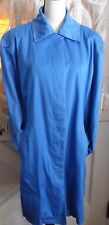 JL Studio Classic Blue Trench Coat Women's Large