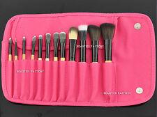 12 Pcs Makeup Brush Set (pink Panther) & Eyebrow Pencil Lip Liner Gift 831a