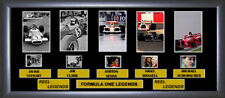 Formula 1 F1 Legends Film Cell memorabilia : 5 legendary Motor Racing drivers