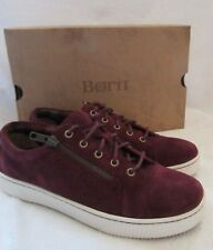 BORN D88019 Tamara Purple Suede Leather Lace Sneakers Shoes US 8.5 M EUR 40 NWB