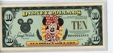 "1991 $10 Disney Dollar "" Minnie Mouse"" Uncirculated #D00066588A"