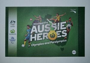 Woolworths Aussie Heroes Olympics Paralympics Stickers Album Rare Gold