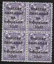 Ireland 1922 3d Dollard Sc4; SG5; HibT4; Violet UNMOUNTED Mint OG Cat.£100+
