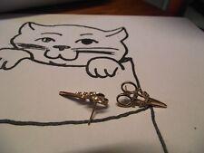 1 Boucle d oreille clou En forme de ciseaux-plaqué or-Nouveauté et original