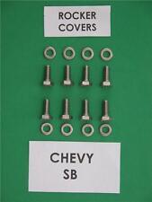 CHEVY SB  265 283 350 400 V8 rocker covers hex head bolt kit in stainless steel