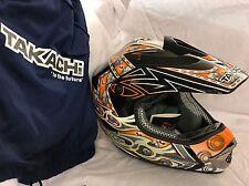 Takachi TK76 Skull Crosshelm Dekor Orange Helm Gr. M