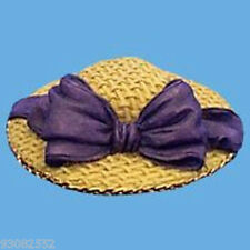 Butlers dollhouses miniature HAT - STRAW WITH LARGE PURPLE BOW  - craft projects