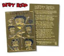 BETTY BOOP 23K Gold Card Sculptured NM-MT Limited Edition - Officially Licensed