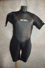 COMBINAISON SHORTY NEOPRENE GCS 2 XCEL XXL / 14 WETSUIT SURF/BODY NEUF BLACK
