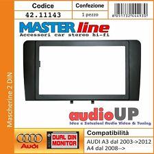 Mascherina supporto doppio 2 DIN tutte AUDI TT dal 2007 con vano 103x178 mm