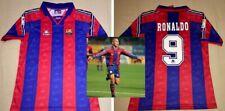 90's Barcelona Retro jersey hand signed autographed RONALDO Proof Brasil Legend
