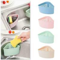 Sink Drainer Soap Sponge Storage Basket Corner Suction Strainer Cup Kitchen D9N9