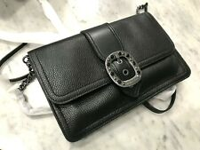 Michael Kors Viola Large Pebbled Leather Hand Clutch / Crossbody Bag in Black