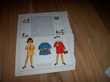 Betsy McCall Sculptress 1967 Vintage Betsy McCall Mag Paper Doll Paperdolls