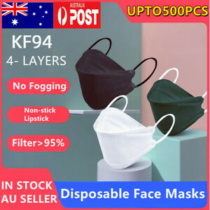 1-500x KF94 Black Face Masks Adult Protective Reusable Cover Mouse Mask