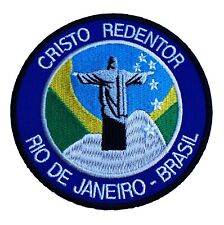 Christ the Redeemer Patch Embroidered Iron/Sew on Badge Brazil Trek Jesus Statue