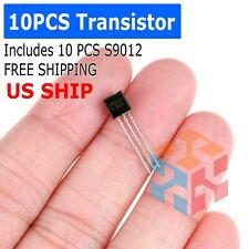 10 Pcs x S9012 TO-92 Transistor Electronic Chip Triode Three Pins Pack Set Lot