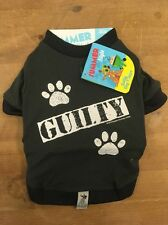 CHARITY LISTING Dog Accessories Top Tshirt Grey GUILTY Prison Paws Funny SMALL